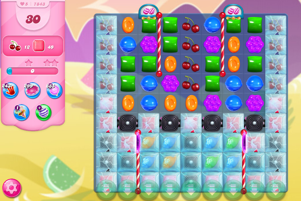 Candy Crush Saga level 7843