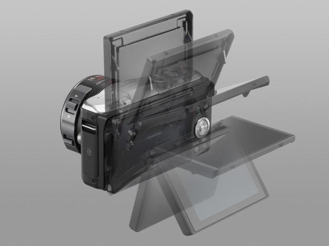 Fotografia del monitor orientabile della Panasonic GF6