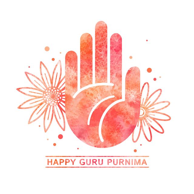 happy guru purnima celebration greeting card