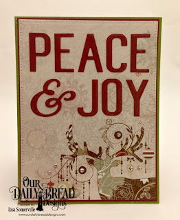 Our Daily Bread Designs Custom Dies: Peace & Joy, Pieced Rectangles, Paper Collection: Retro Christmas
