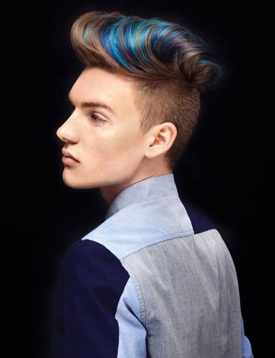 All About Hair For Men BLUE HAIR COLOUR FOR MEN - Hairstyle colour for man