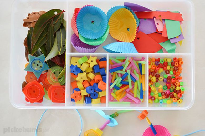 Activities for toddlers - threading activity