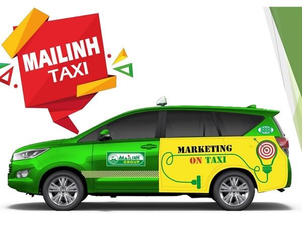 Dán  Decal quảng cáo trên xe Taxi Mai Linh Giá Rẻ