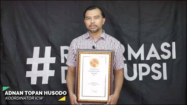 Kategori Fundraising Anti Korupsi Terbaik: ICW (Indonesia Corruption Watch).