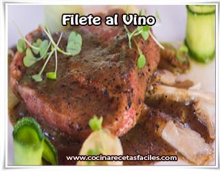 Recetas de carnes, filete al vino