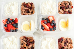Healthy Grab and Go Protein Breakfast Boxes #diet #healthylunch