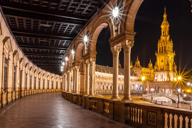 Plaza España de noche