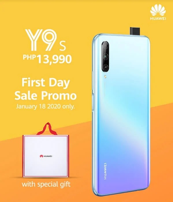 Huawei Y9s Lands in PH for only Php13,990; Offers Freebies on First Day Sale