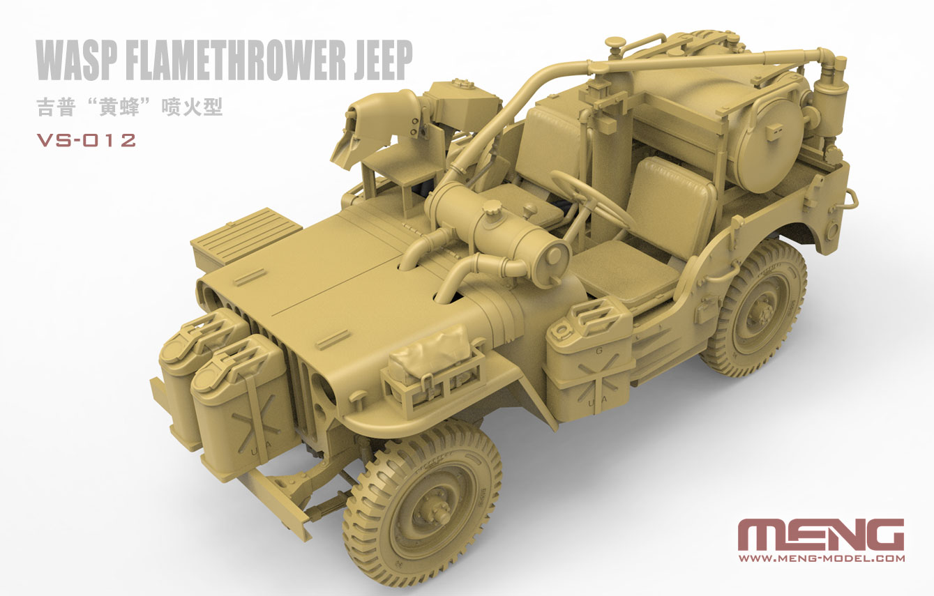 The Modelling News: A jeep with a flamethrower? Meng's 35th