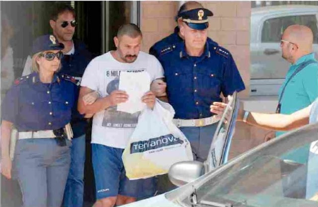 Photos: Italian Mafia Amedeo Mancini Arrested For Killing Nigerian Refugee Charged With Murder