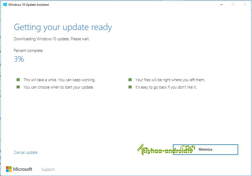 Cara Upgrade Online ke Windows 10's Creators Update