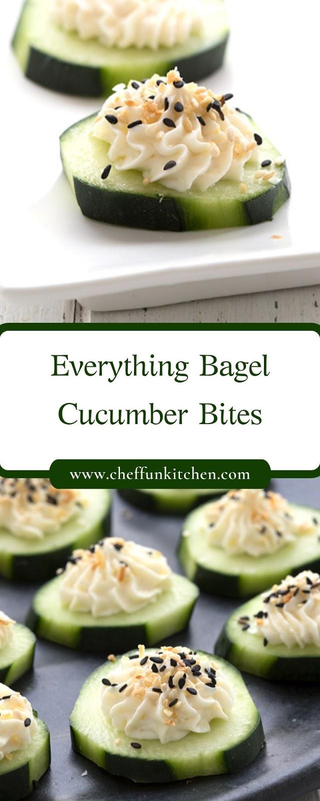 Everything Bagel Cucumber Bites