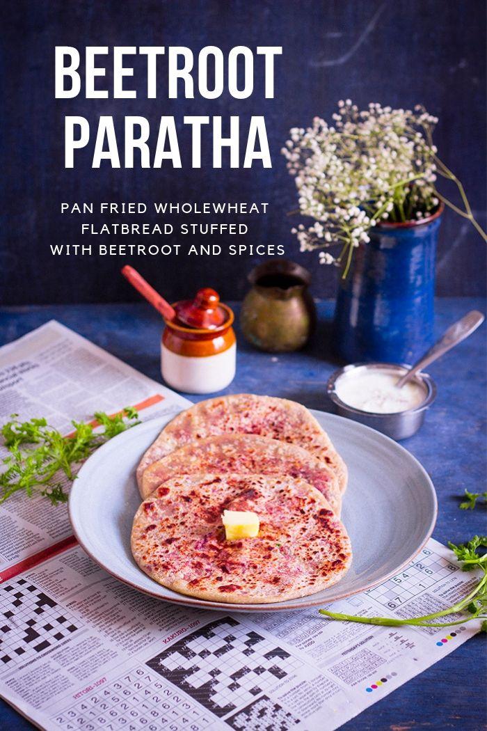 beet root paratha