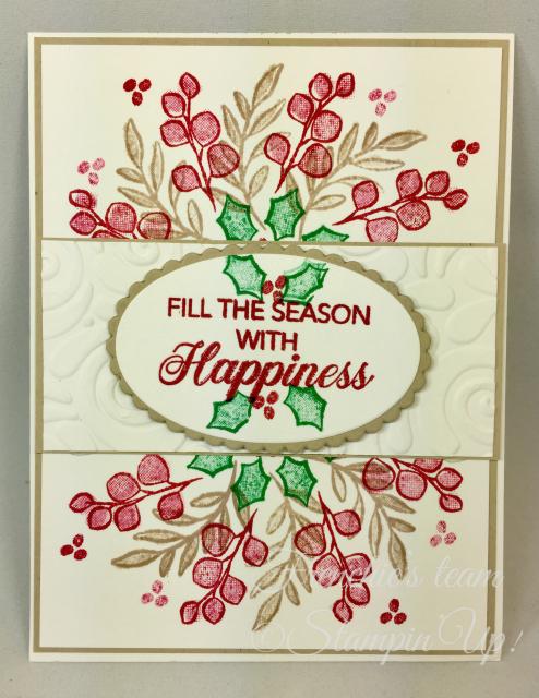 Card, Peaceful Noel, Swirls & Curls Embossing Folder, Christmas