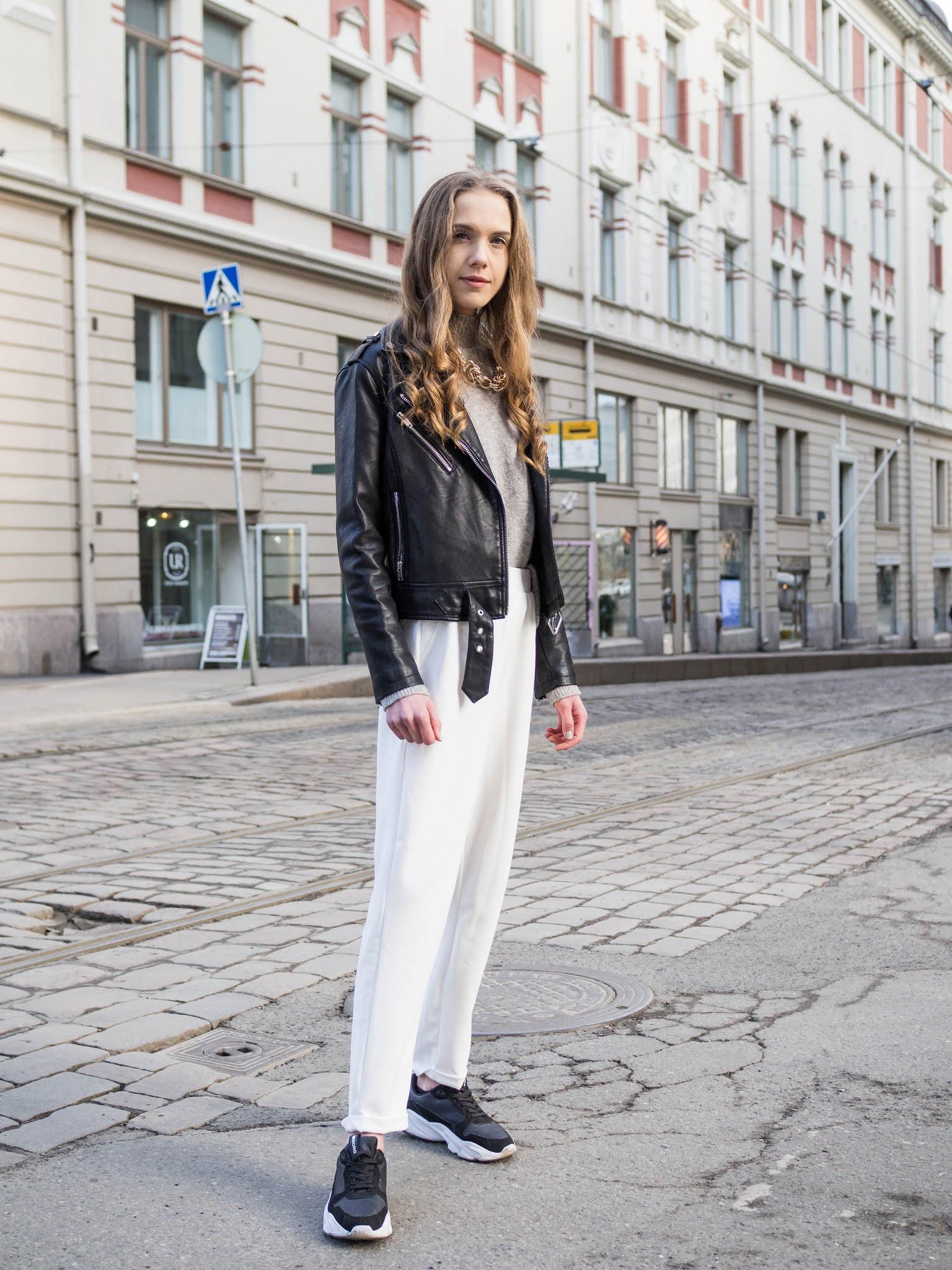 Kuinka yhdistää valkoiset housut // How to wear white trousers