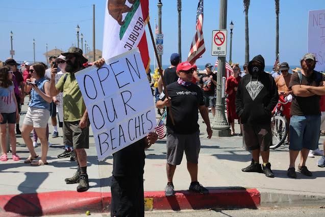 Open California beaches protest