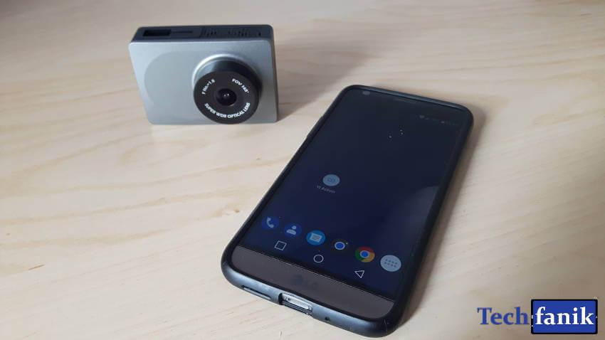 yi dash camera połączenie z aplikacją