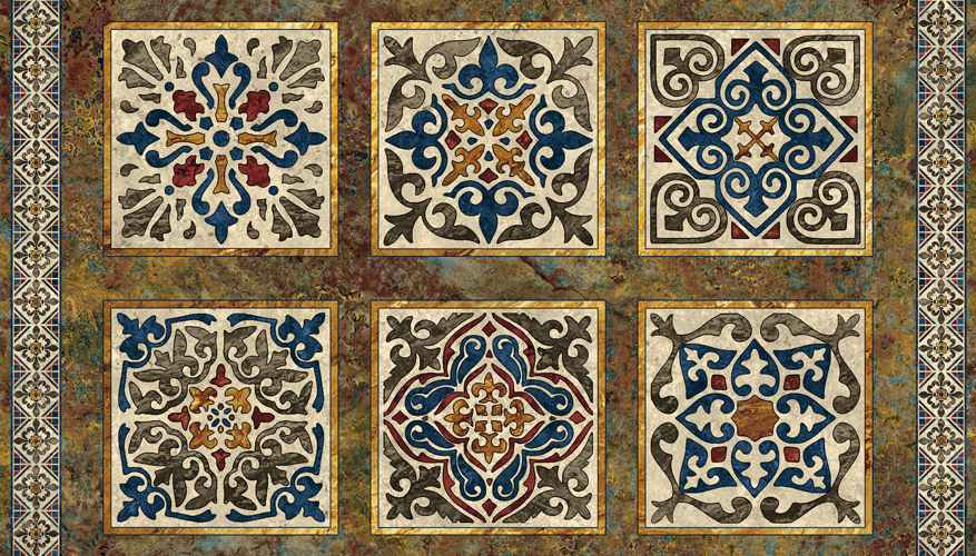 Inspired By Fabric Marbled Beauty Tuscan Mosaic