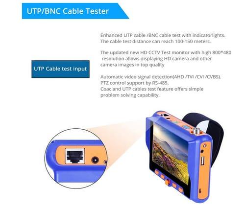 Electop AHD/TVI/CVI 5 Inch Coaxial Camera Tester