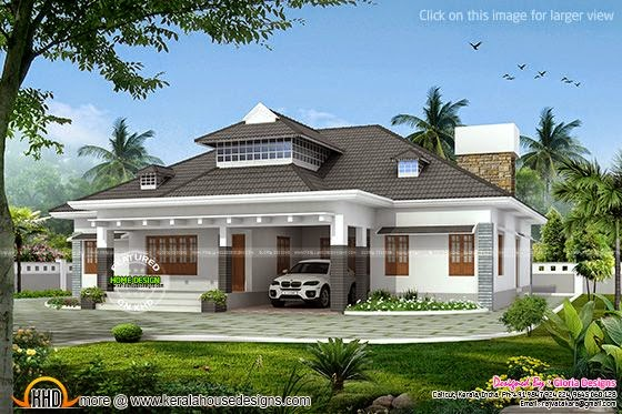 Elegant single storied house