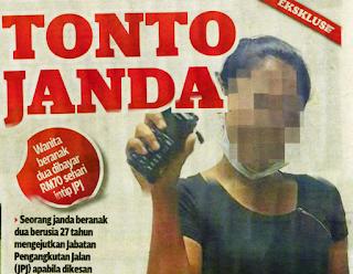 Wanita Pertama Berstatus Janda Jadi Tonto Malaysia