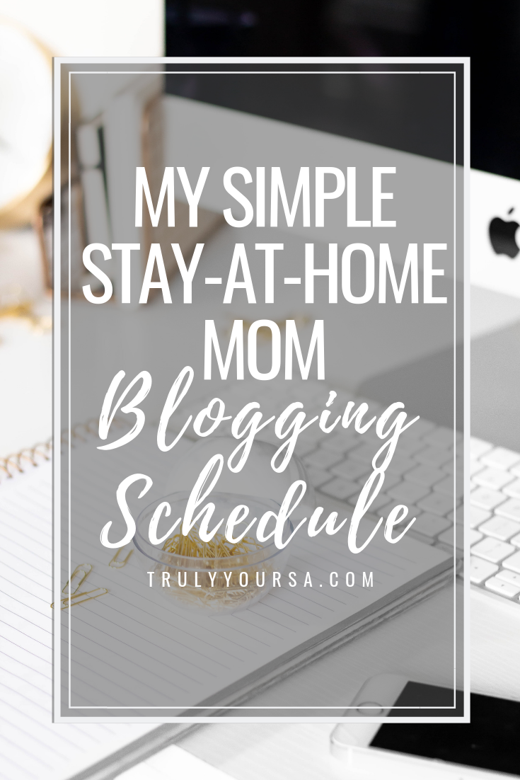 I never knew how hard it was to be a stay-at-home (SAHM) mom until I became one! I feel like my day is one activity after another with a few small breaks in between (thank God for naptime and Sesame Street!). This makes it pretty difficult to work on my blog and social media, but I think I've got it figured out now. Keep reading for my super simple and easy SAHM blogging schedule! #stayathomemom #SAHM #momblogger #momblog