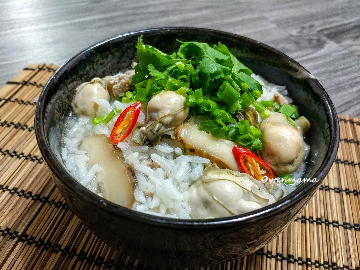 Owenmama's Kitchen: 香菇肉碎蠔仔粥