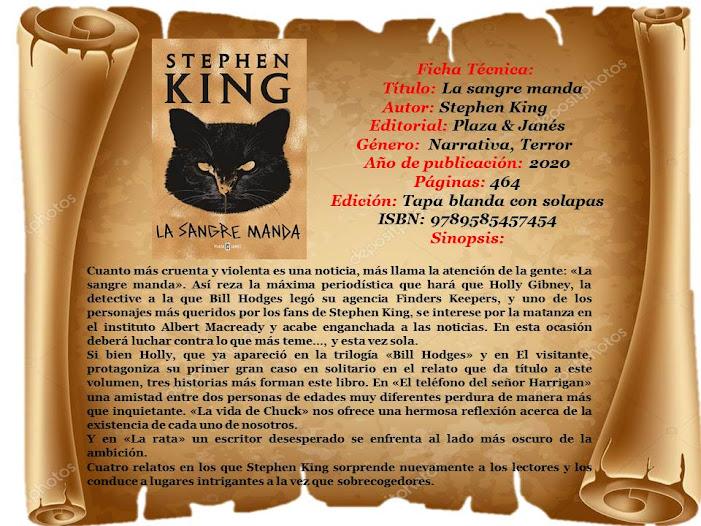 "Reseña: ""La sangre manda"" - Stephen King"