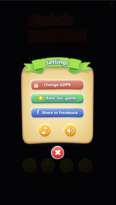 Quick Maths - HTML5 Game + Mobile Version + ADMOB-GDPR + Leaderboard + Achievement (Construct 2/3) - 5