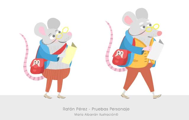 Pruebas Personaje Raton Perez - Maria Albarran Ilustracion