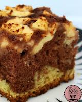 ciasto waniliowo kakaowe z jabłkami