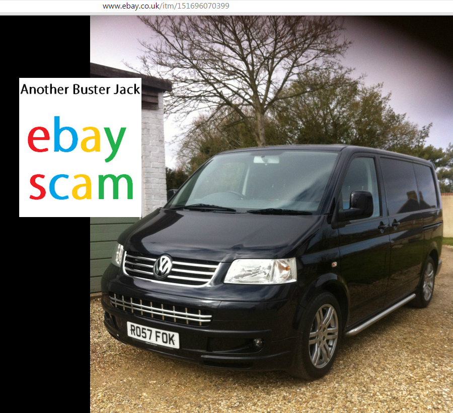Jack Buster Jack Ebay Scam Vw T5 Transporter Sportline Swb 2 5tdi 174 Bhp Ro57fok Fraud Ro57 Fok 29 May 15