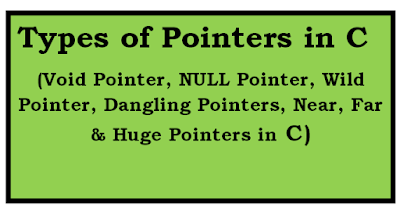 Types of pointers in c