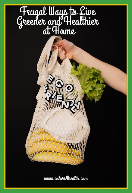 Mesh Food Shopping Bag, and Eco-friendly Tip