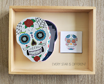 Day of the Dead Skull Matching Cards