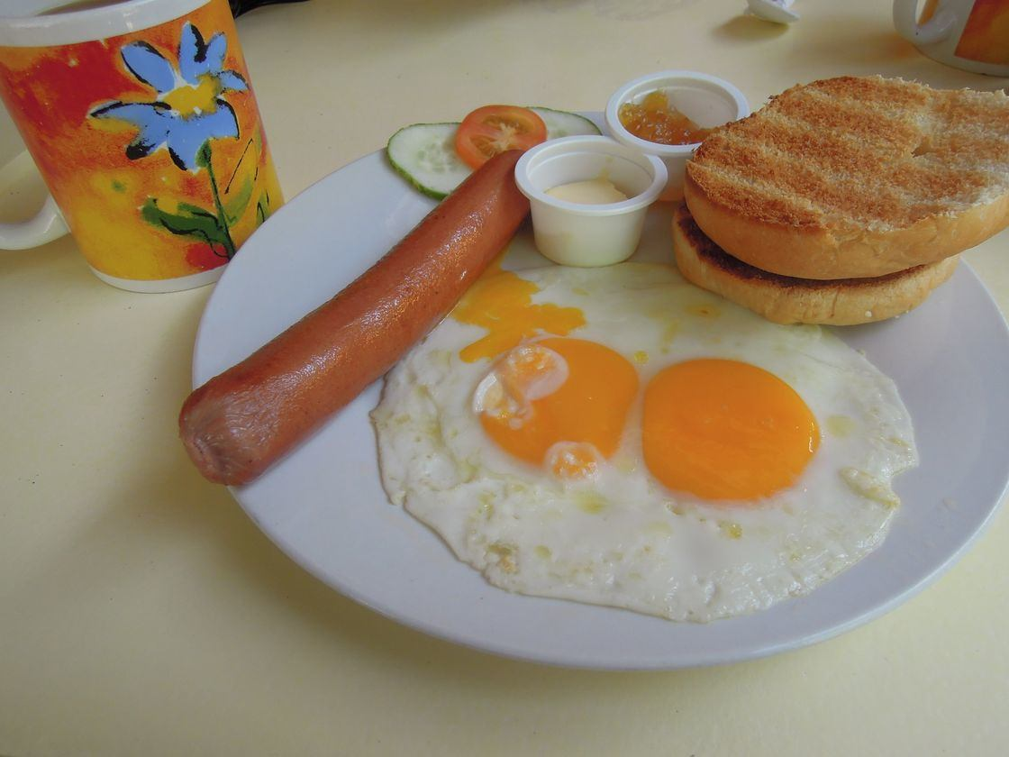 American breakfast in Boracay