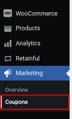 WooCommerce -> Marketing
