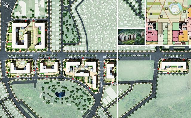 Mặt bằng quy hoạch tổng thể dự án Booyoung Vina