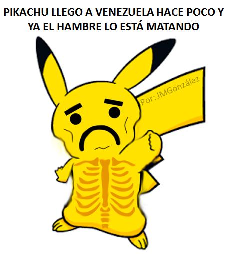 Puro Pin: Pokemon Go Venezuela - Pokemones Desnutridos Por La Escasez