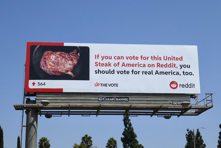 United Steak of America Reddit billboard