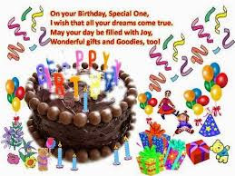 Happy Birthday Wishes And Quotes For the Love Ones: on your birthday, special one,