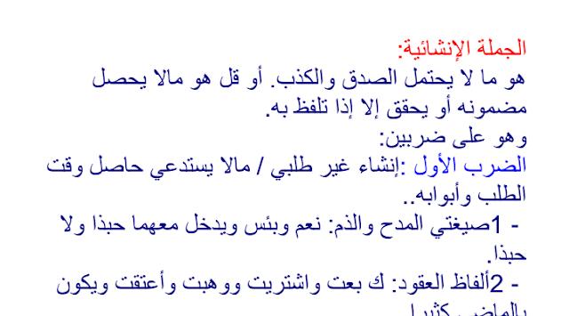 حل تمارين ص 96 اللغة العربية 1 ثانوي علمي