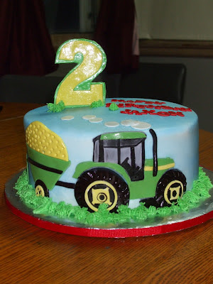 John Deere Birthday Party Ideas On Cakes By Paula Tractor Cake