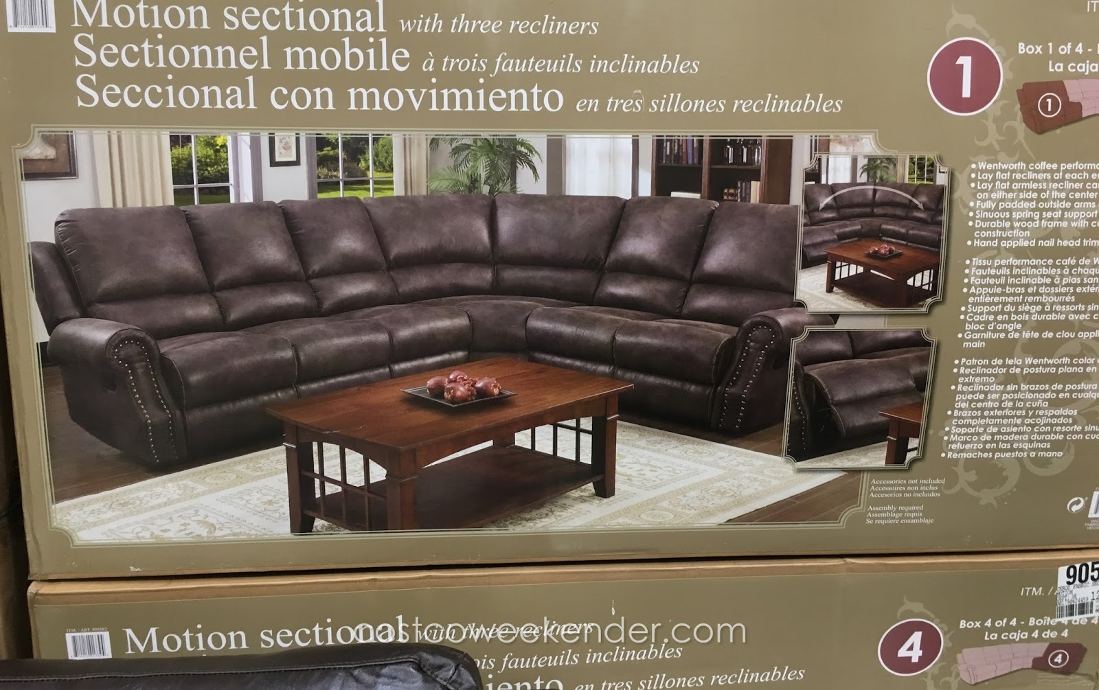 Motion Sectional With Three Recliners