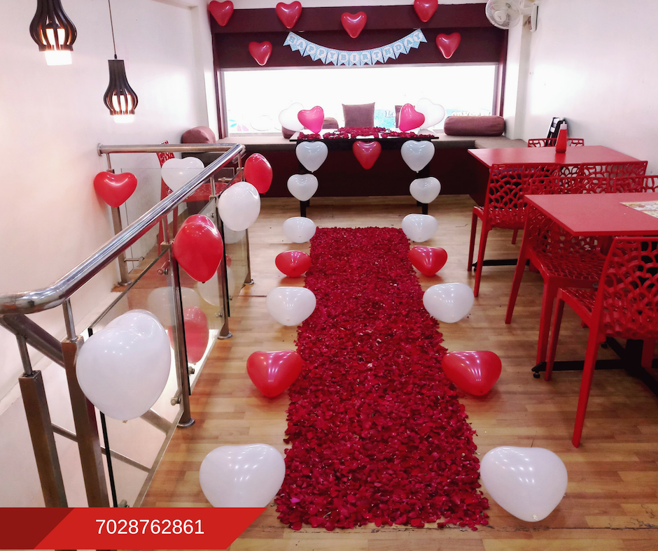 Romantic Room Decoration For Surprise Birthday Party In Pune