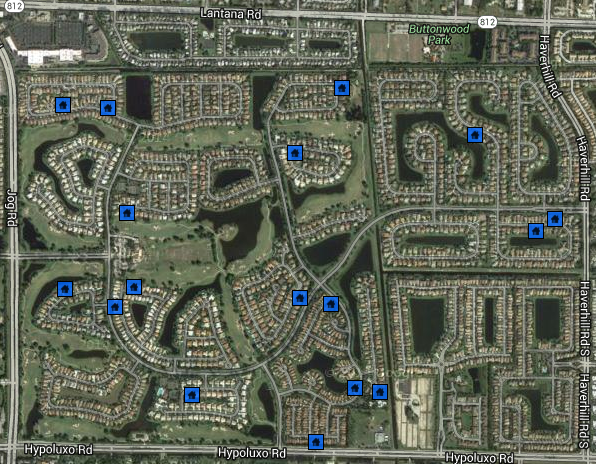 Winston Trails Homes Sold Map