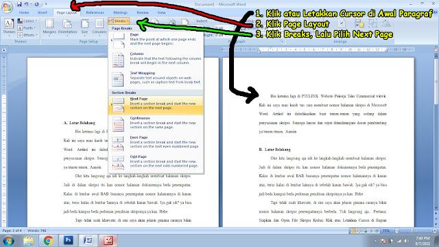 6 Langkah Membuat Penempatan Nomor Halaman Skripsi di Microsoft Word