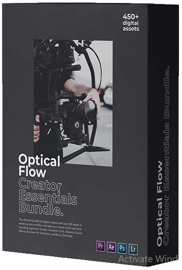 Presets – Optical Flow – Creator Essentials Bundle [CUBE, XMP, DNG, WAV, PRPROJ, MOGRT, MP4, PNG]