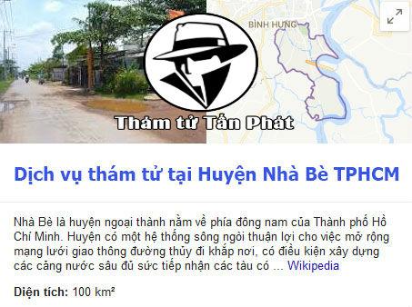 Dịch vụ thám tử huyện Nhà Bè TPHCM