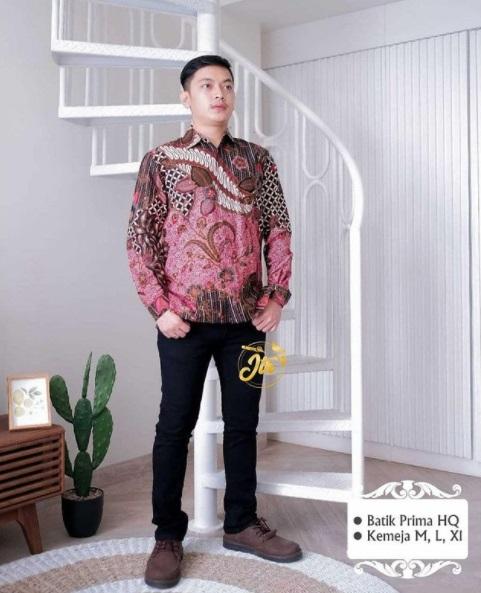 Kemeja Pria Batik Lengan Panjang Sangat Keren Buruan Order Yha Kaka Rp 95.000